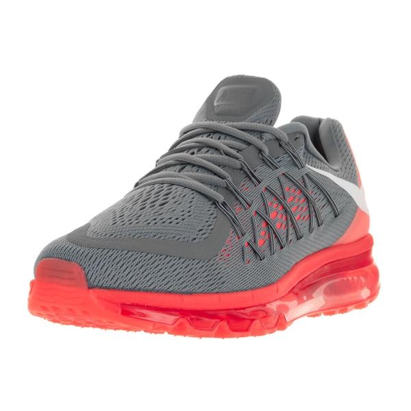 8ea4d702068d Shop Nike Men s Air Max 2015 Cool Grey White Bright Crimson Running ...