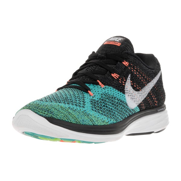 the best attitude 379de ec39b Nike Men  x27 s Flyknit Lunar3 Black White Hypr jade ttl