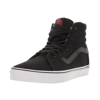 Vans Unisex Sk8-Hi Reissue (Twill and Gingham) Blk/Twht Skate Shoe