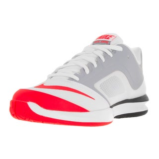 Nike Men's Ballistec Advantage White/Bright Crimson/Wolf Grey Fabric Tennis Shoe