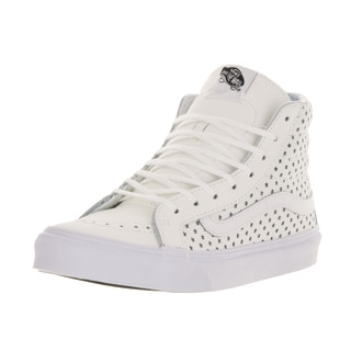 Vans Unisex Sk8-Hi Slim Perfect Stars True White Leather Skate Shoes