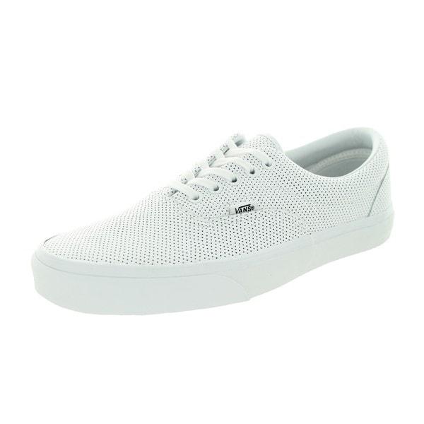 de4566c027 Shop Vans Unisex Era Perforated Leather True White Skate Shoe - Free ...