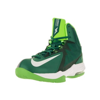 Nike Men's 'Air Max Stutter Step 2' Poison Green, White, Stealth, and Electric Green Synthetic Leather Basketball Shoes