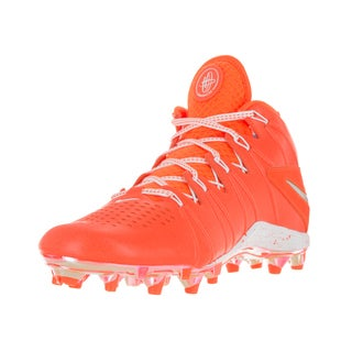 Nike Men's Huarache 4 LAX LE Total Orange/ Metallic Silver/White Size 10 Football Cleats