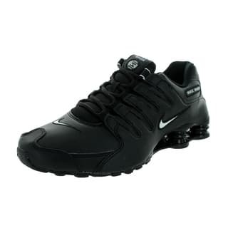 Nike Men's Shox NZ EU Black, White, Black Leather Running Shoes Size 8.5|https://ak1.ostkcdn.com/images/products/13395210/P20091954.jpg?impolicy=medium