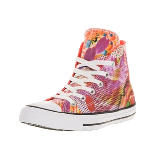 Converse Unisex Chuck Taylor All Star Digital Floral Hi White/Lava/W Basketball Shoe