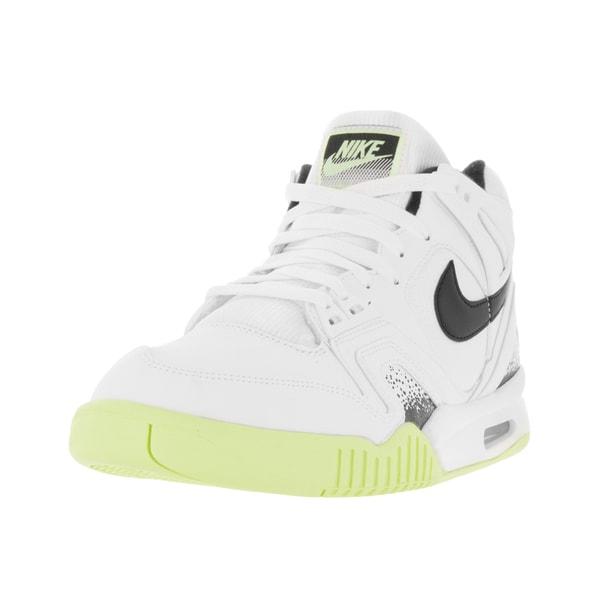22c6d6ec1466 Shop Nike Men s Air Tech Challenge II White Black Liquid Lime Tennis ...