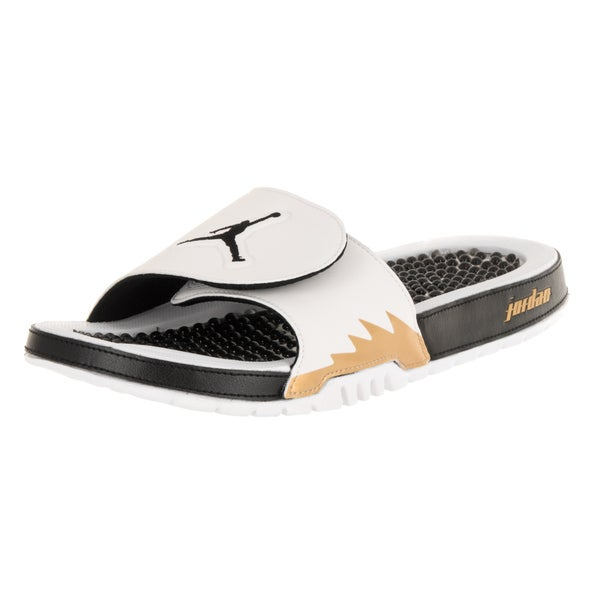 9c6c18a78 ... Men s Sandals. Nike Jordan Men  x27 s Jordan Hydro V Retro White Black  Metallic