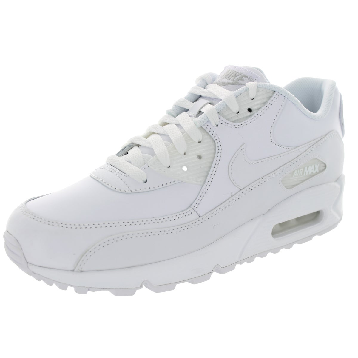 Nike Men's Air Max 90 White Leather Size 10.5 Running Sho...