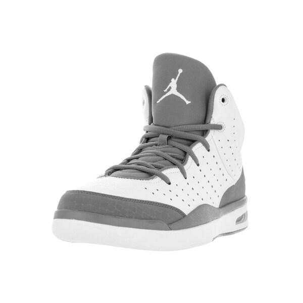 Nike Jordan Men's Jordan Flight Tradition White/Cool Grey Basketball  Shoe