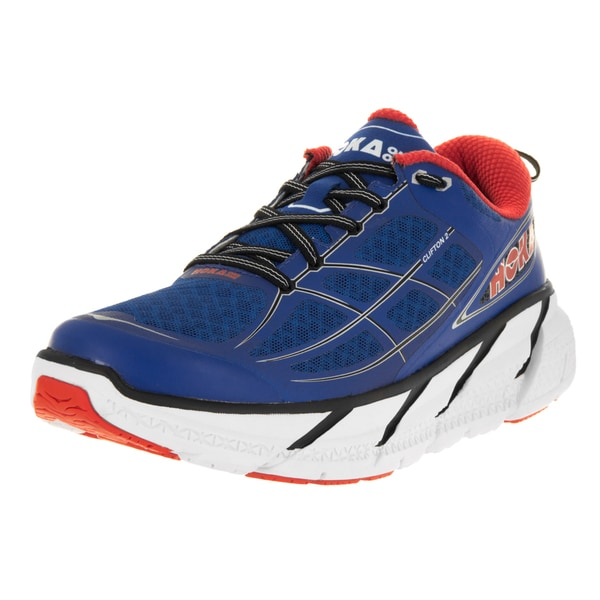 separation shoes e5498 20787 Hoka One One Men  x27 s M Clifton 2 True Blue Orange Flash