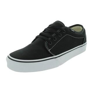 Van's 106 Vulcanized Black Canvas Skate Shoe