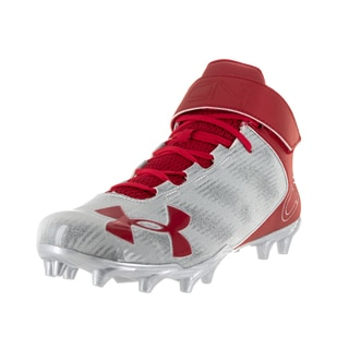 Under Armour Men's UA C1N Mid MC Red/Msv Football Cleat