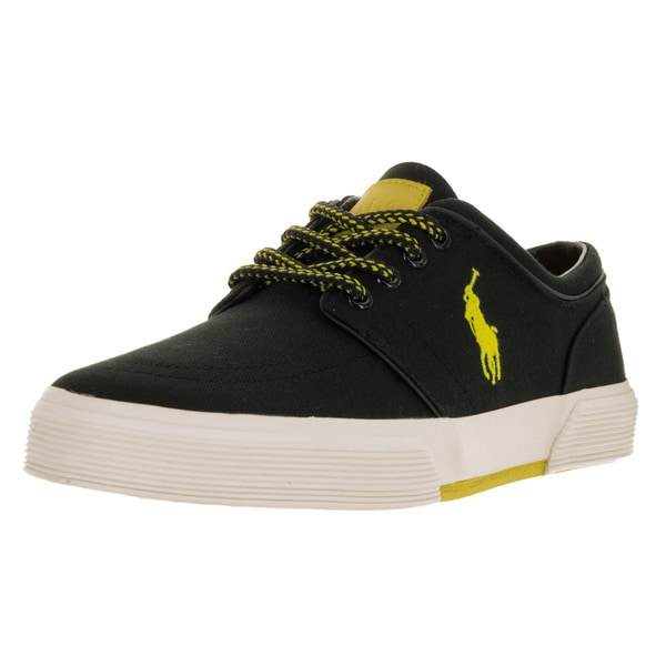 2c856f33f Shop Polo Ralph Lauren Men s Faxon Low Sk Black Yellow Casual Shoe ...