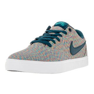 Nike Men's SB Check Solar Cnvs Prm Multi/Color/Midnight Turq Skate Shoe