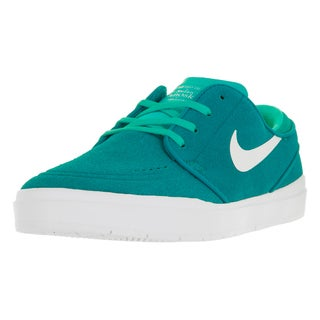 Nike Men's Stefan Janoski Hyperfeel Rio Teal, White, Hyper Jade, and Volt Yellow Suede Skate Shoes