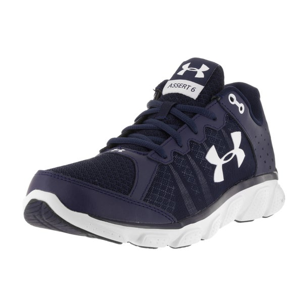 14e24cbee074 Shop Under Armour Men s Micro G Assert 6 Midnight Blue White Running ...