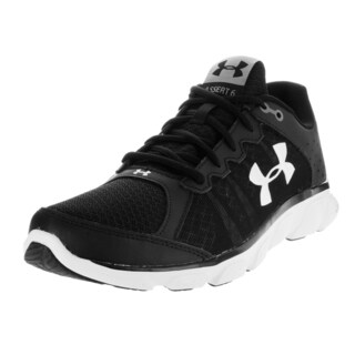Under Armour Men's Micro G Assert 6 Black and White Fabric Running Shoes