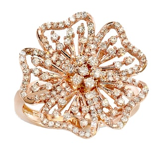 14k Rose Gold 3/4ct TDW Round White Diamond Ladies Cocktail Ring (H-I, I1-I2)
