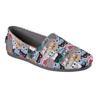 Women's Skechers BOBS Plush 'Scratch Party' Cat Print Alpargata Shoe