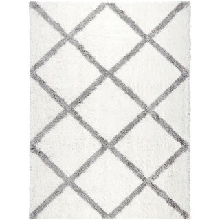 Home Dynamix Carmela Collection Contemporary Ivory Shag Area Rug (7'10 x 10'2) (4 options available)