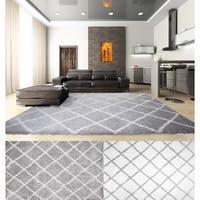 Home Dynamix Carmela Collection Contemporary Grey/Ivory Area Rug (3'9 x 5'9)