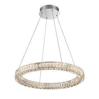 Lumenno Alize Collection Chrome/Crystal Dimmmable LED Pendant Light
