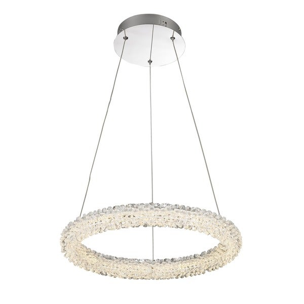 Lumenno Bellini Collection Chrome Crystal Dimmmable LED Pendant