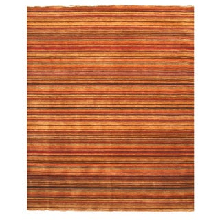 Handmade Wool Transitional Stripe Lori Toni Rug (5' x 8')