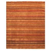 Handmade Wool Transitional Stripe Lori Toni Rug - Multi - 5' x 8'
