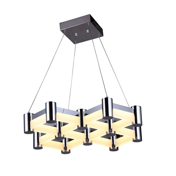 Lumenno Loko Collection Chrome Steel Dimmmable LED Pendant