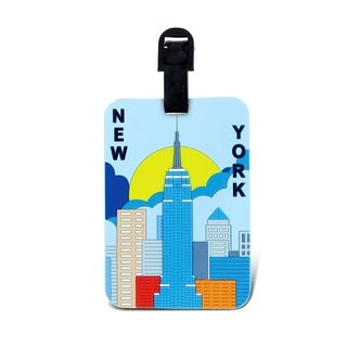 Puzzled New York Plastic Luggage Tag