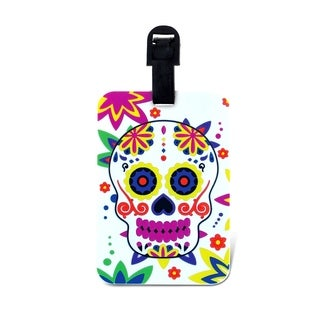 Puzzled Day of the Dead Luggage Tag