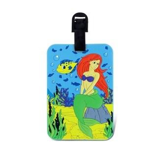 Puzzled Mermaid Multicolor Plastic Luggage Tag