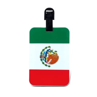Puzzled Mexican Flag Luggage Tag