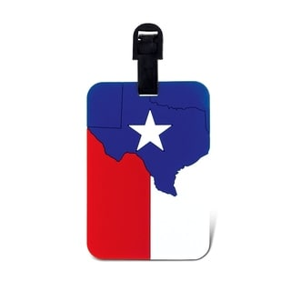 Puzzled Inc. Texas Flag Multicolored Plastic Luggage Tag
