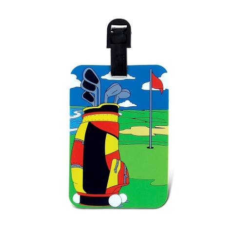Puzzled Golf Luggage Tag
