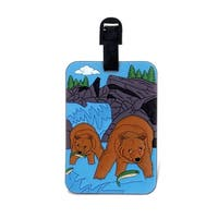 Puzzled Grizzly Luggage Tag
