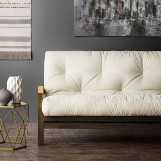 clay alder home hansen full size 5 inch futon mattress  more options available futons for less   overstock    rh   overstock
