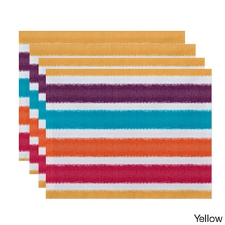'Fun in the Sun' Colorful Stripe Print Placemats (Set of 4)