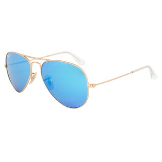 Ray-Ban RB3025 1124L Gold Frame Blue Lens Unisex Sunglasses