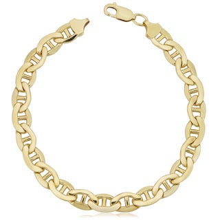 Fremada Yellow Gold Filled 7.8-mm Mariner Link Chain Men's Bracelet (9 inches)