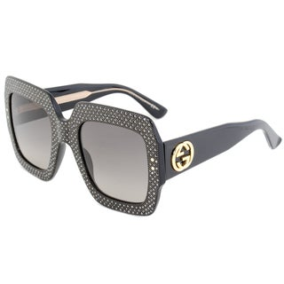 Gucci GG 3861S Y6CDX Black Crystal Frame Black Gradient Lens Women's Sunglasses