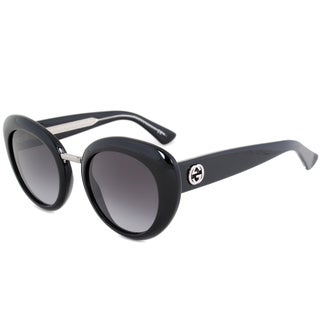 Gucci GG 3808S Y6C9O Black/Silver Frame Grey Gradient Lens Women's Sunglasses