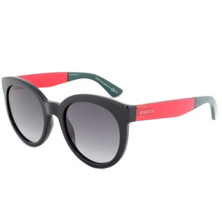 Gucci GG 3810S VM89O Black/Red/Green Frame Grey Gradient Lens Women's Sunglasses