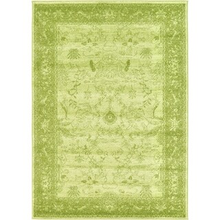 La Jolla Light Green Polypropylene Rug (4' x 5'6)