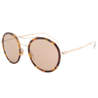 Gucci GG 4252NS I93VG Havana/Gold Frame Brown Lens Unisex Sunglasses