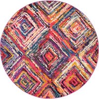 Unique Loom Orleans Barcelona Round Rug - 6' 0 x 6' 0