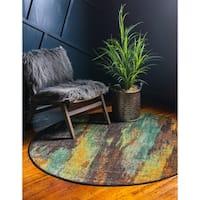 Unique Loom Lilly Jardin Round Rug - Multi - 6' x 6'