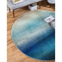 Unique Loom Azura Barcelona Round Rug - 6' x 6'